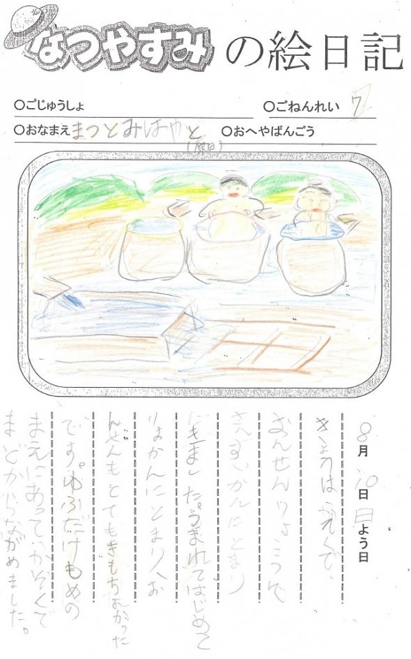 絵日記コンクール社長賞